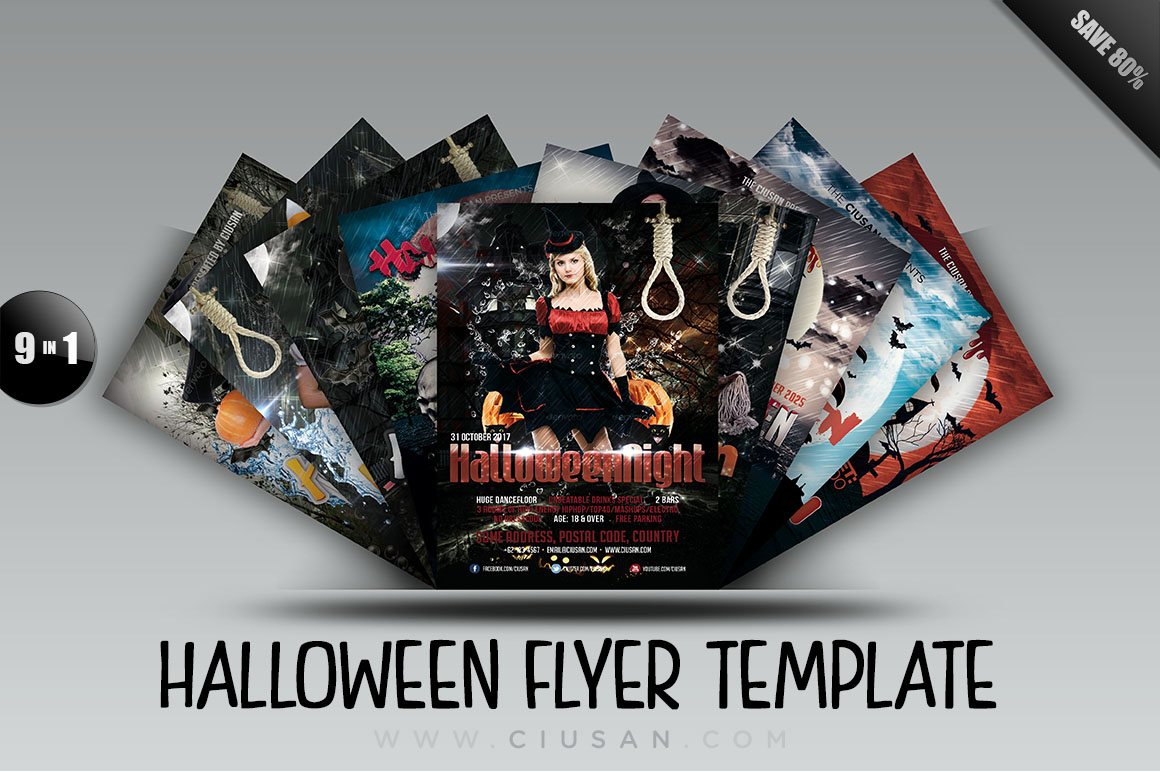 Halloween Flyer Template - Bundle example image 1