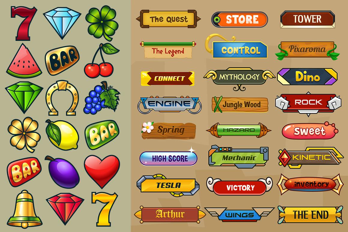Cartoon Characters & Items Bundle example image 4