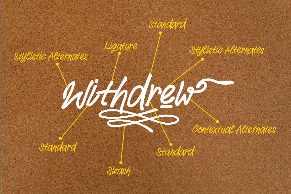 Withdrew - Modern Script example image 7
