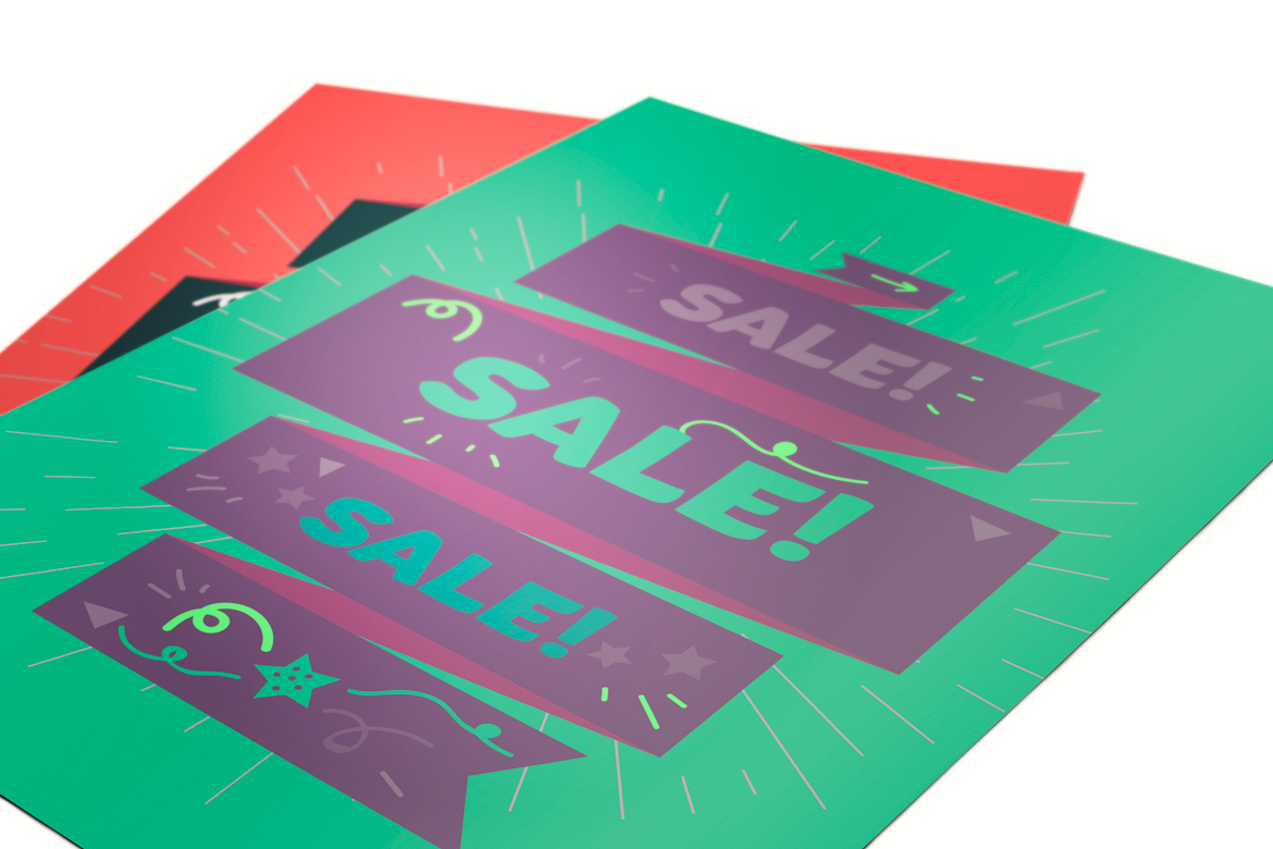 Vector Sale Ribbon example image 1