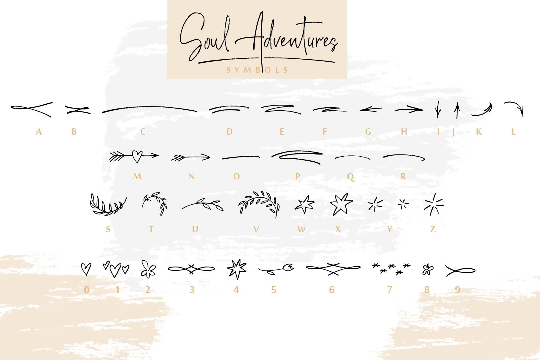 Soul Adventures script font + Extras example image 6
