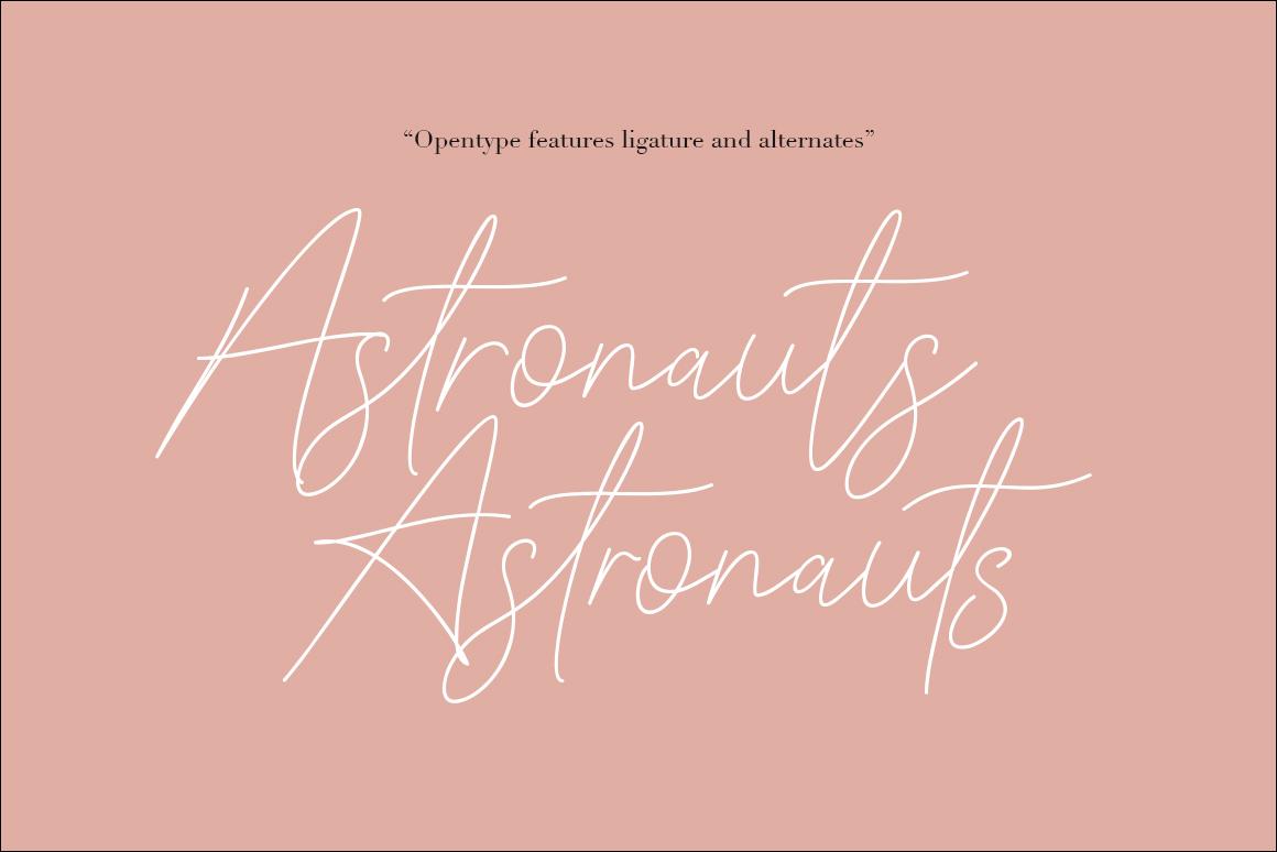 Signattury Signature Font - Free Sans example image 3