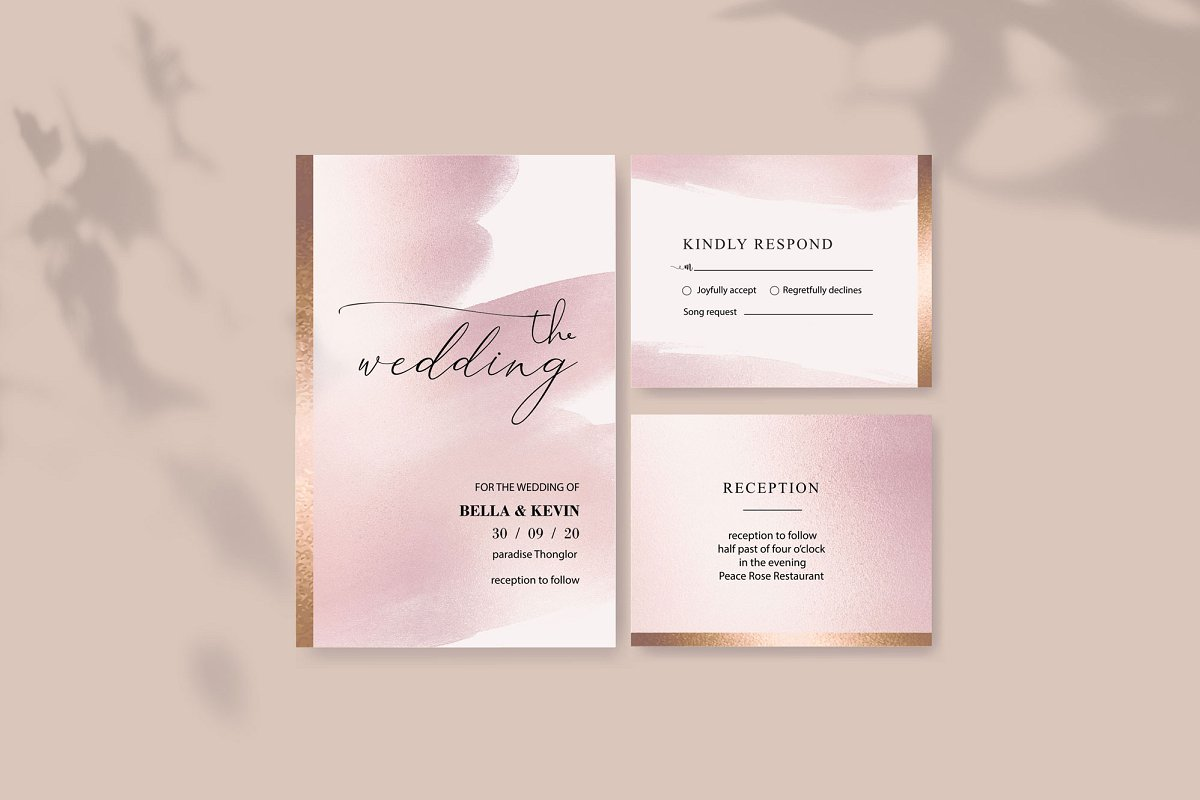 Rose Gold Watercolor Brushes PNG Backgrounds example image 2