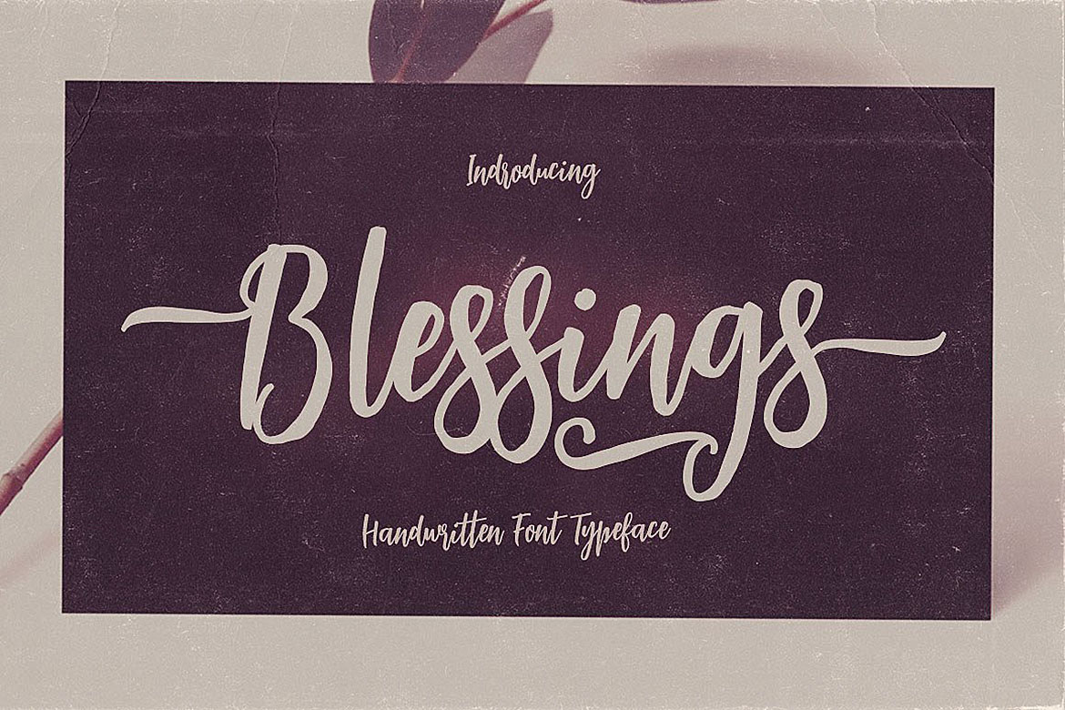 Blessings Script Font example image 4
