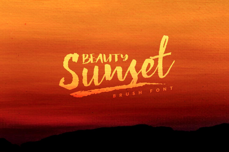 Beauty Sunset + Swashes example image 2