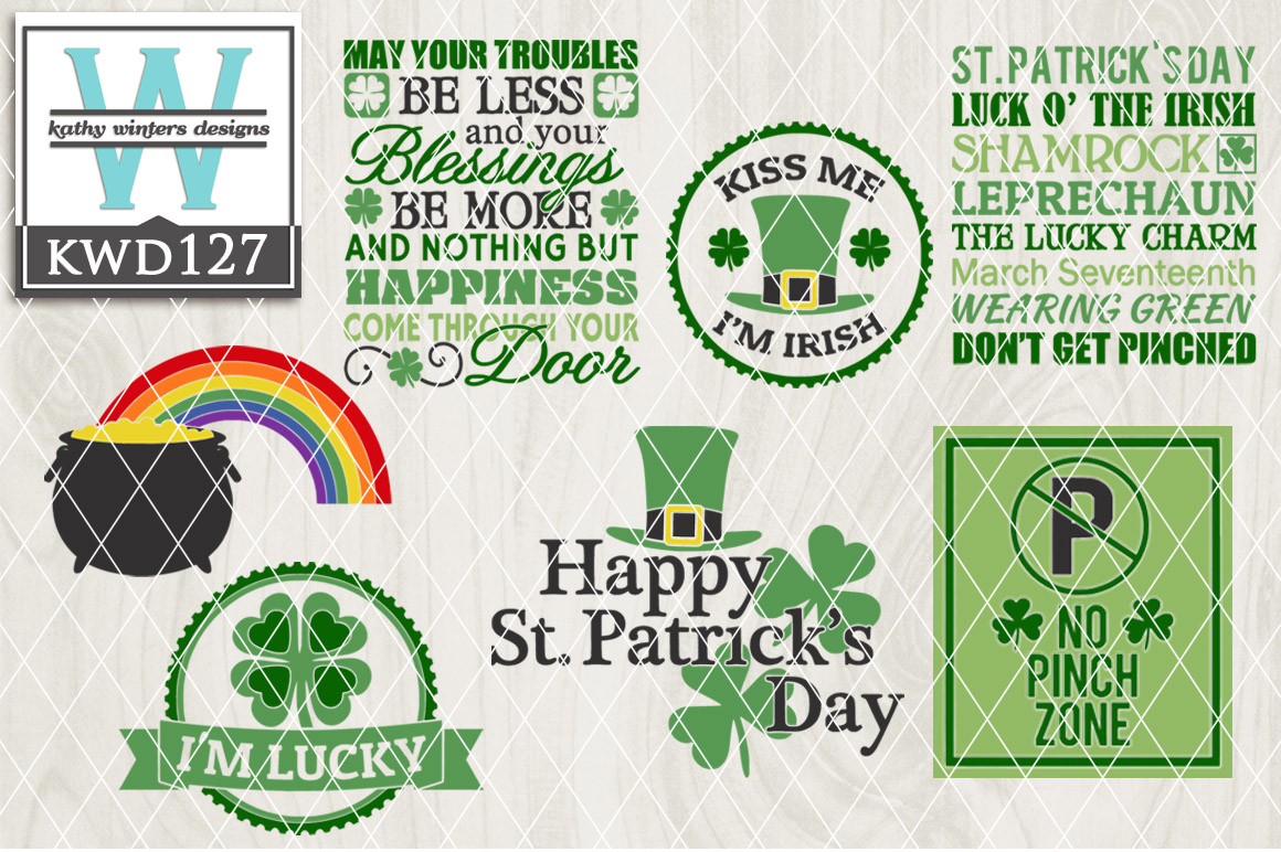 St. Patrick's Cutting File KWD127 example image 1