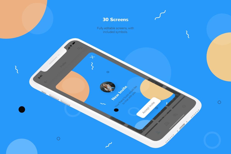 Chatty Mobile UI Kit example image 2