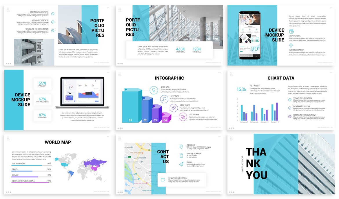Scaperdon - Architecture Powerpoint Template example image 4
