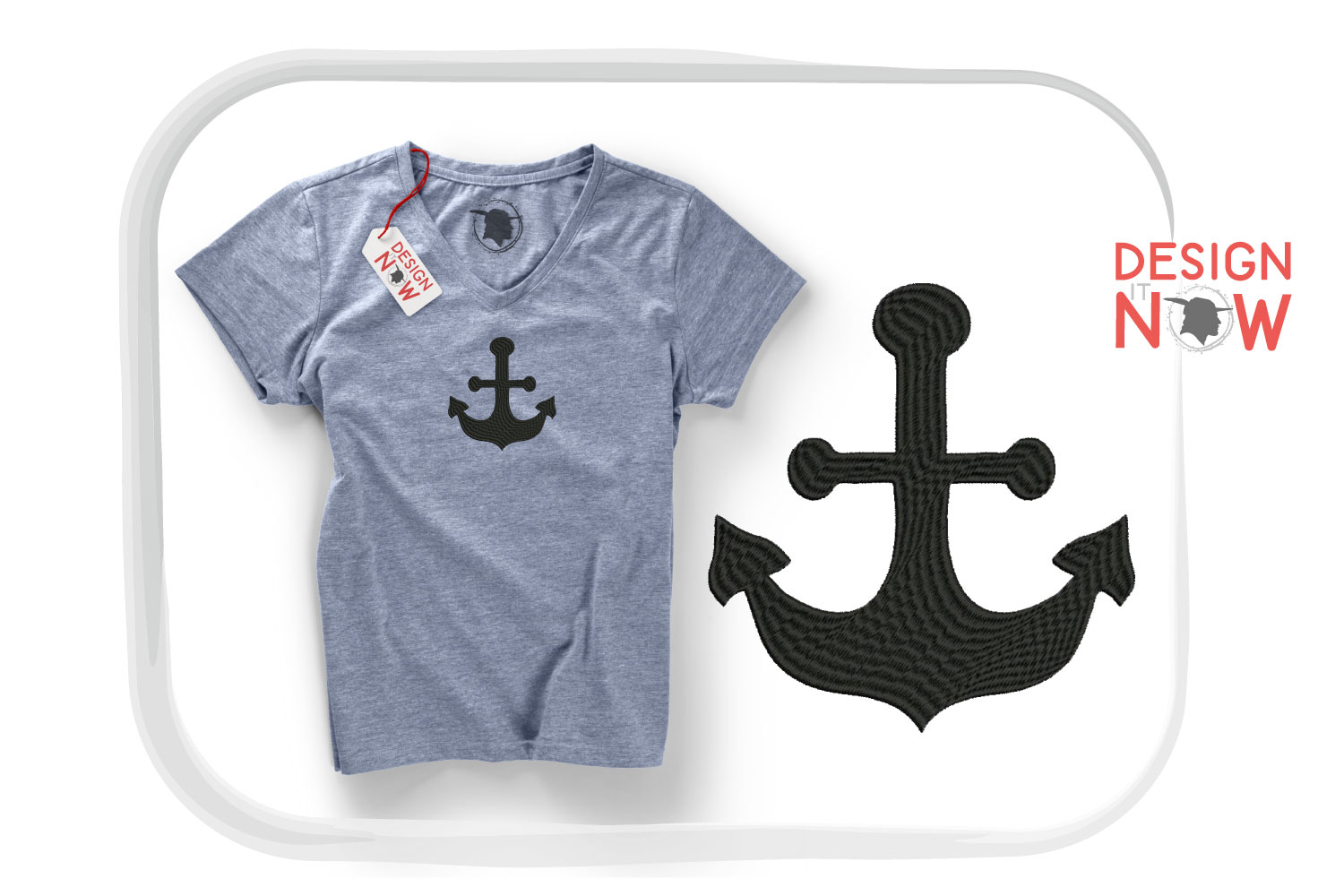 Anchor Embroidery Design, Anchor Embroidery Pattern example image 1