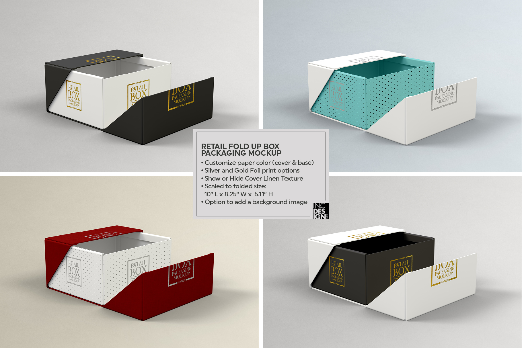 Fold Up Retail Box Packaging Mockup example image 5