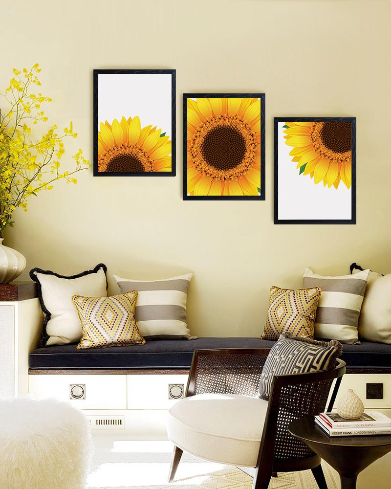 Sunflower Decor, Sunflower Wall Art, Yellow Wall Art example image 3