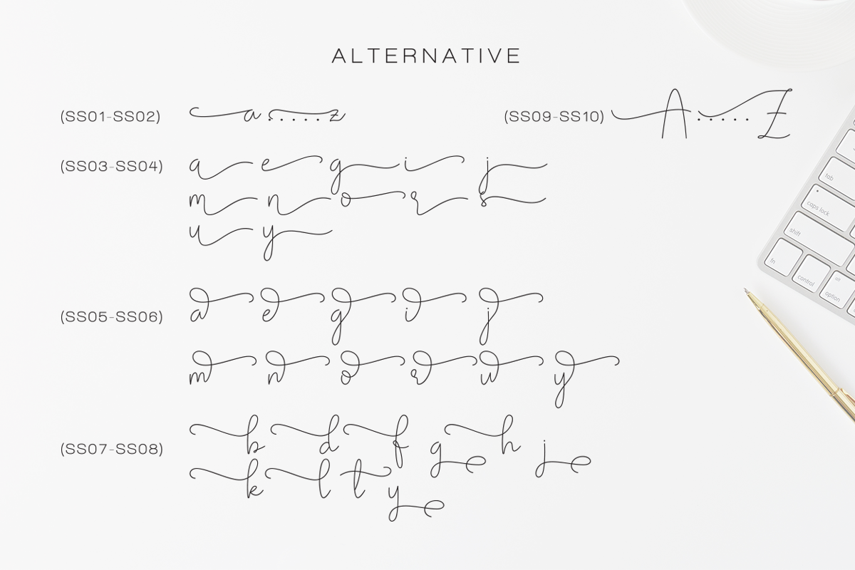 Olivia - Elegant Monoline Script example image 12