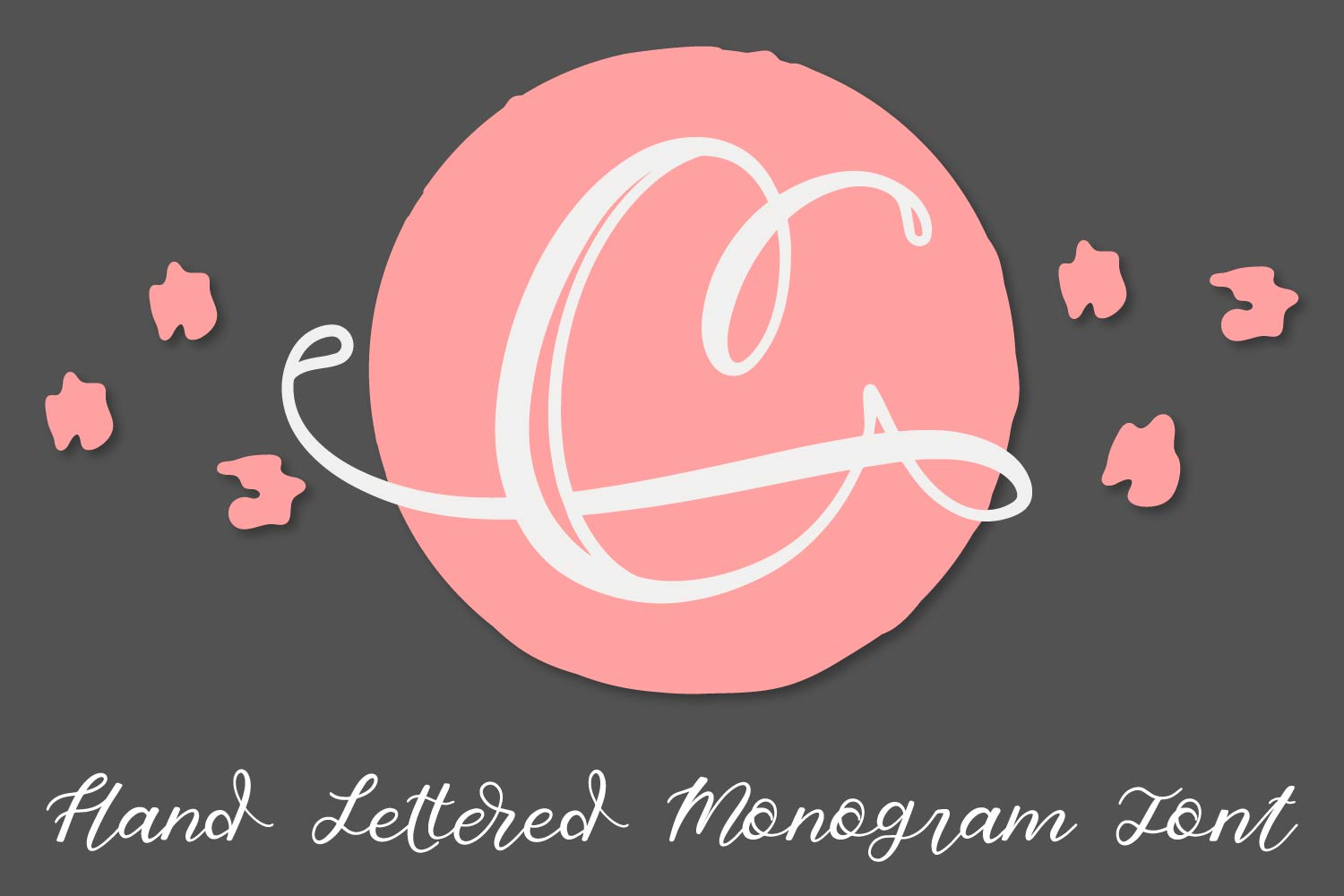 Hand Lettered Monogram Font - Perfect For Personalization! example image 8