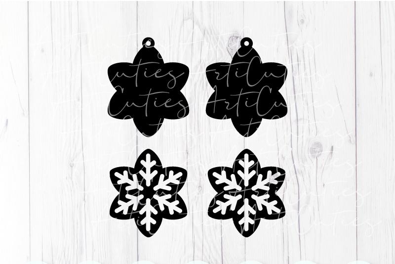 Earrings template SVG, DIY earrings template example image 2