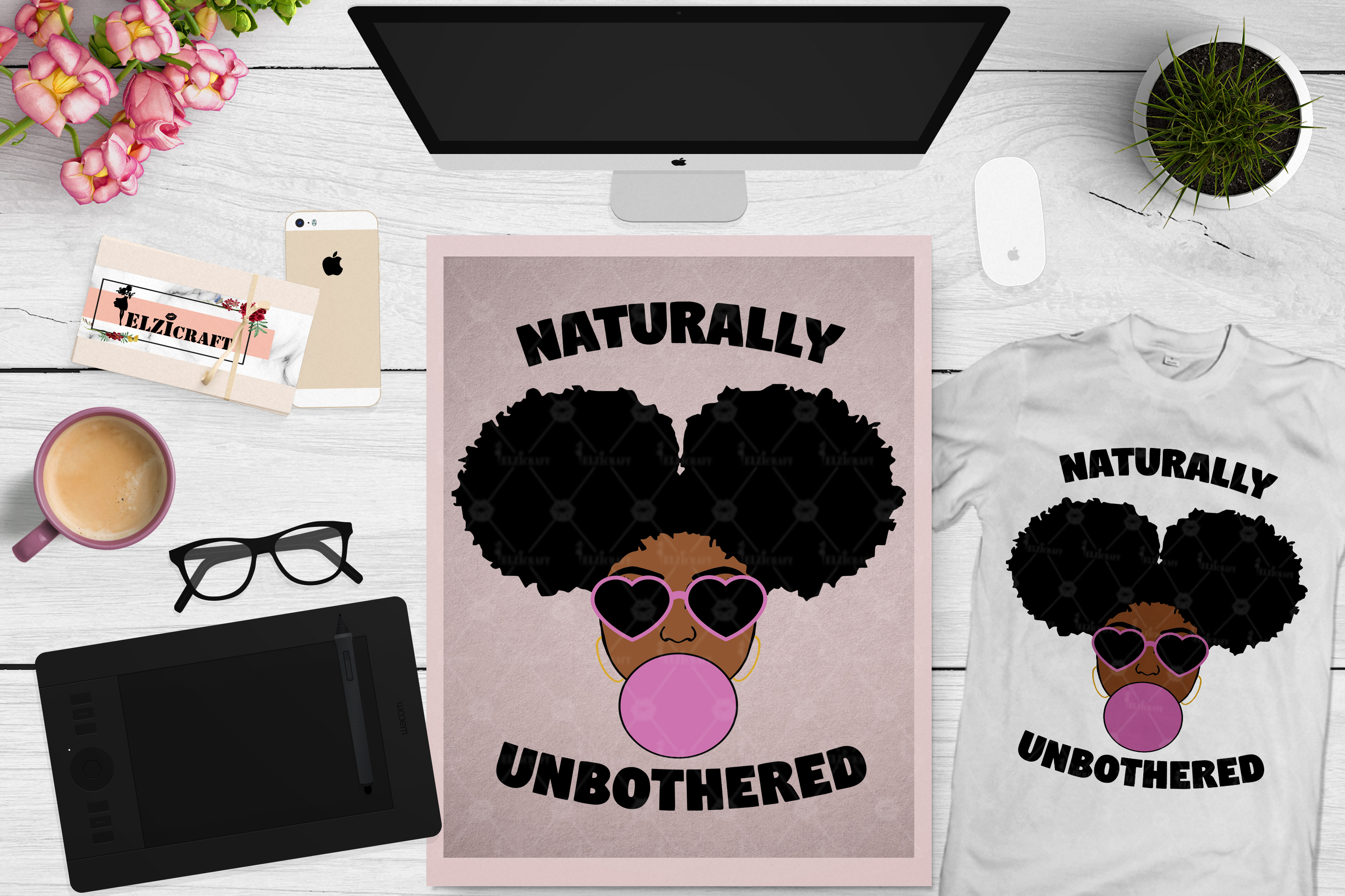 BUNDLE Afro Girl, Afro Girl Face, BAE, BHM SVG Cut File example image 12