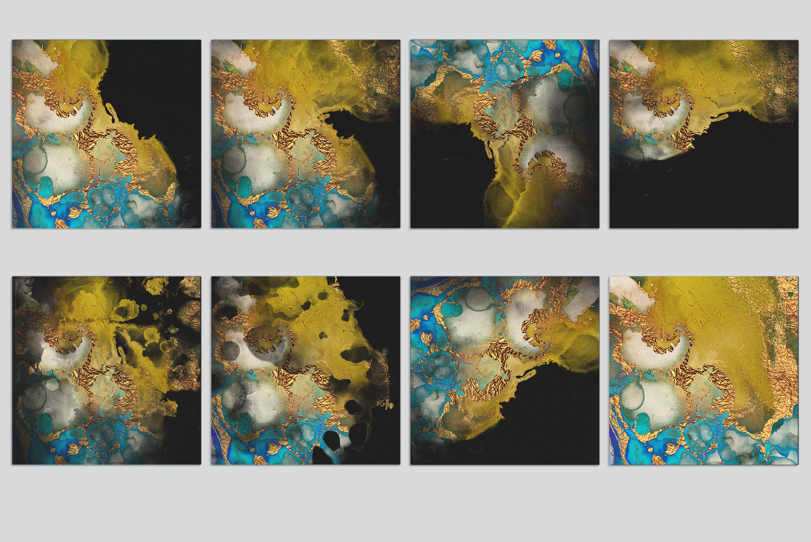 Watercolor PNG Gold Textures example image 5