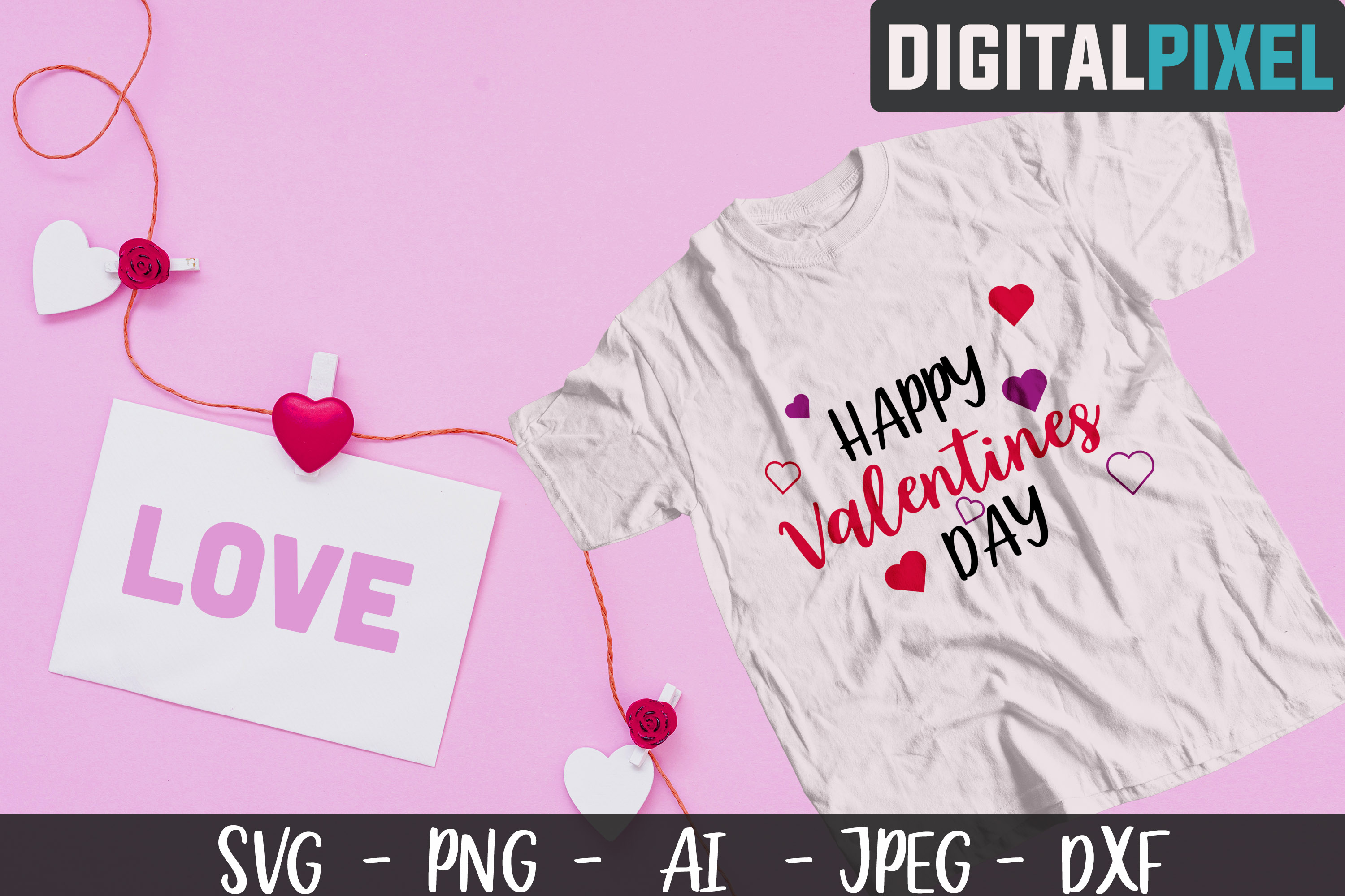 Valentines Day Bundle SVG PNG DXF Valentines Bundle Crafters example image 3