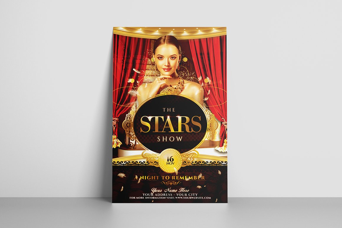 The Stars Show Flyer Template example image 3