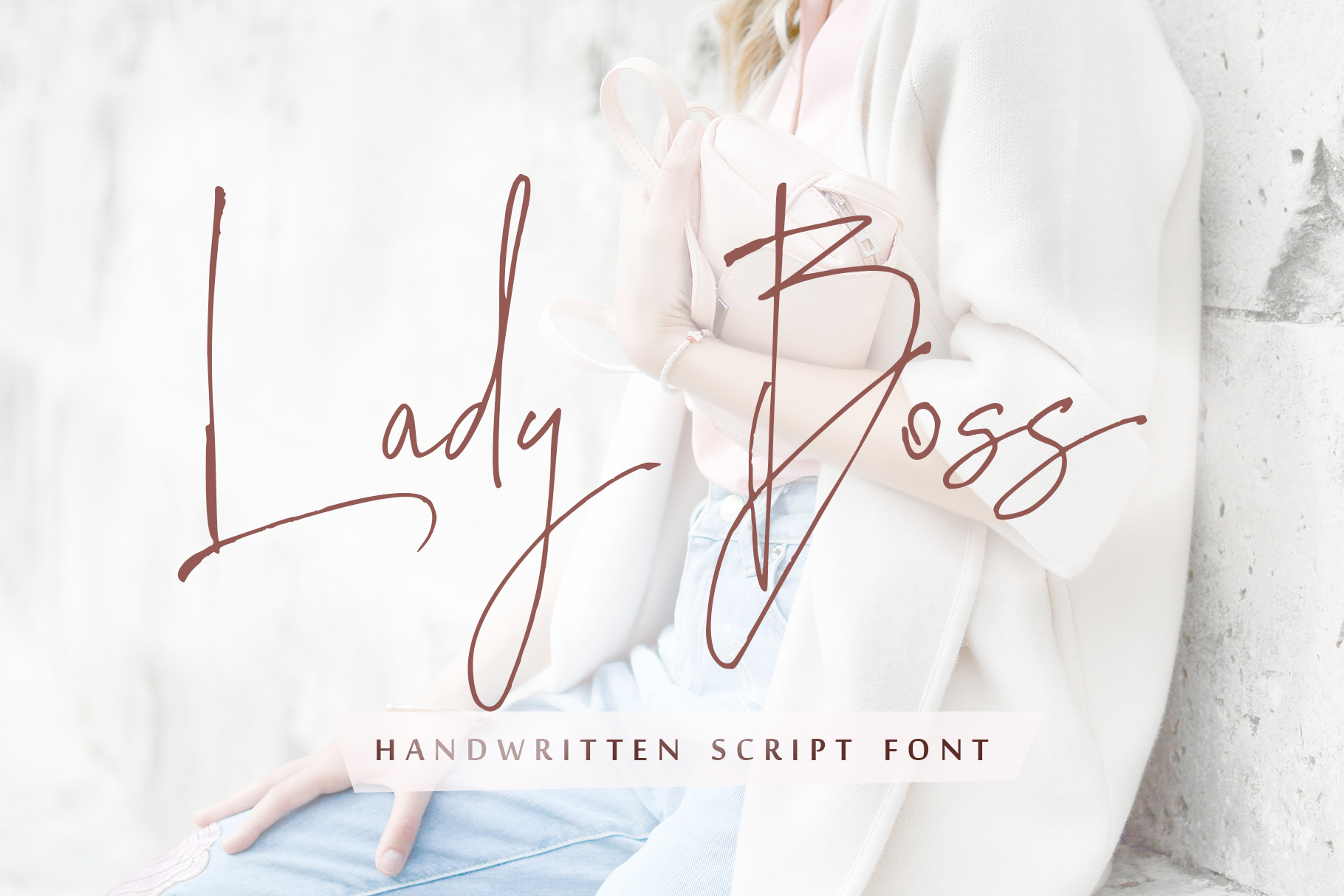 Lady Boss script font + Extras example image 1