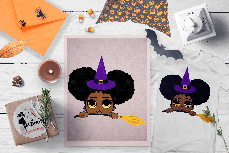 BUNDLE Halloween Afro Girls SVG Cut Files example image 8