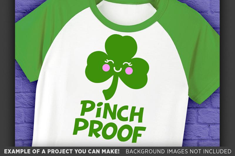Pinch Proof SVG - Kids St. Patricks Day Shirt SVG - 1077 example image 3