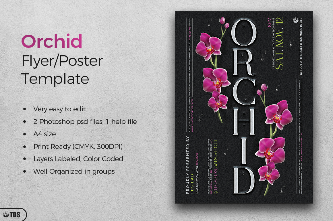 Orchid Flyer Template example image 3
