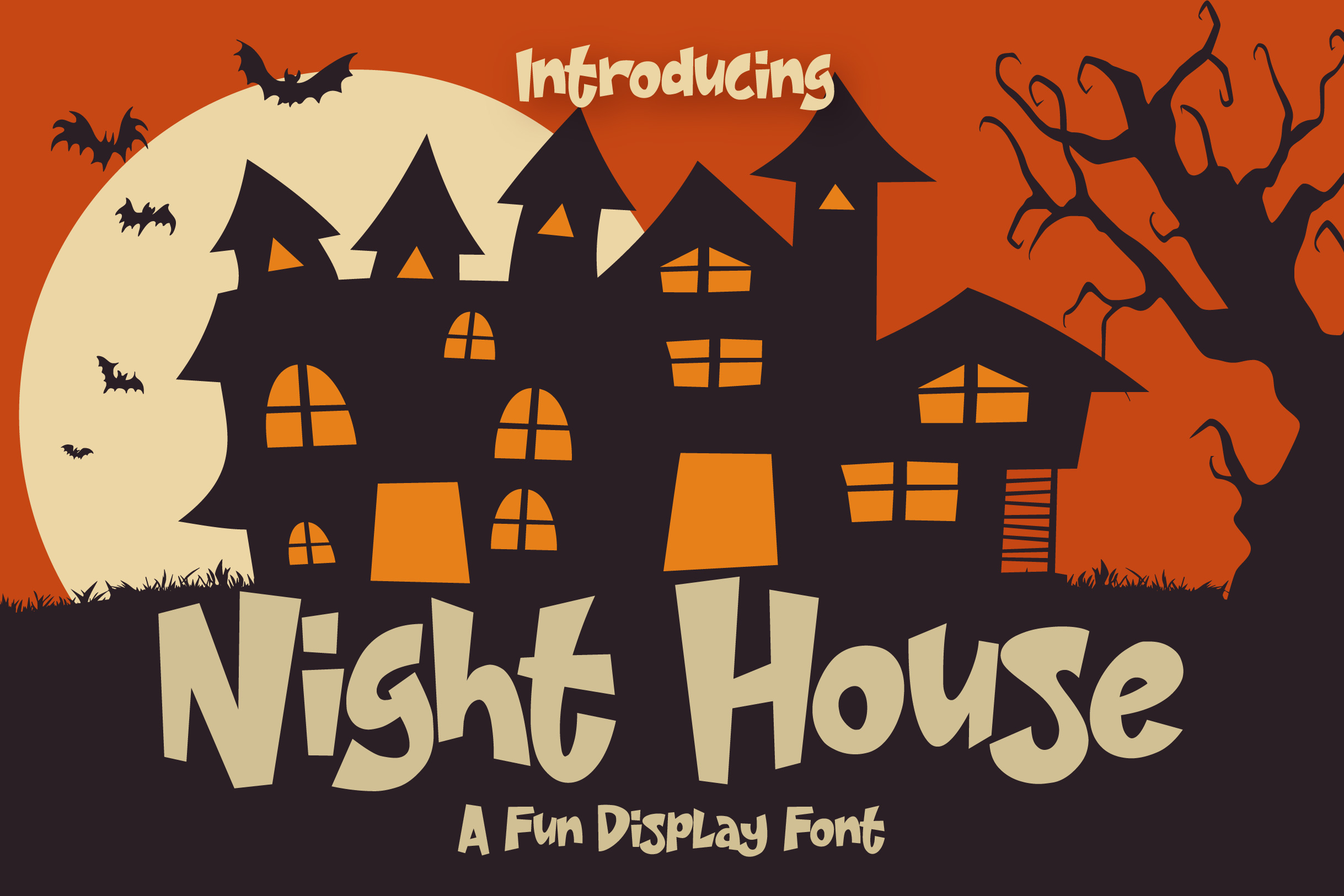 Night House - A Fun Display Font example image 10