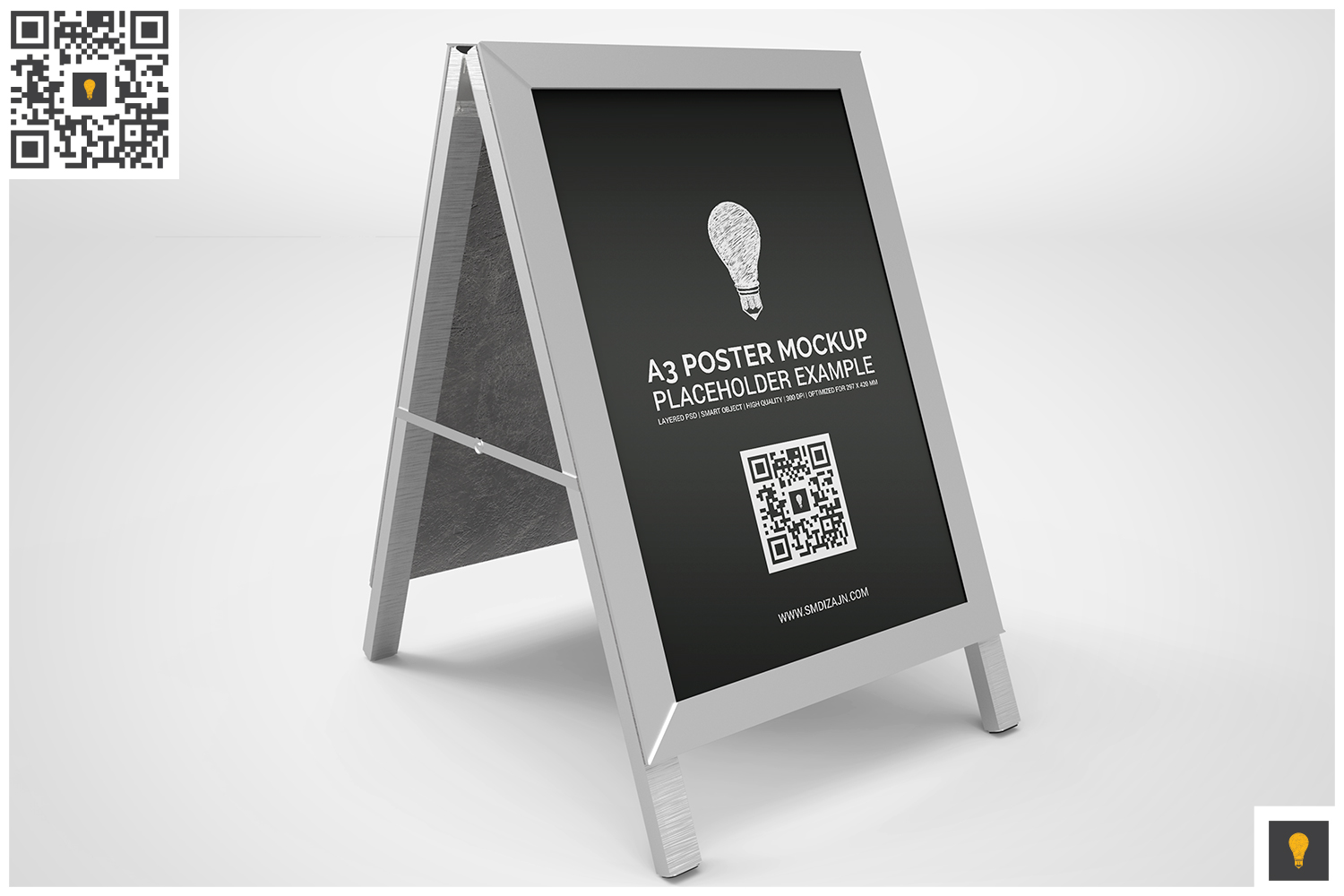 Poster Stand Display Mockup example image 5