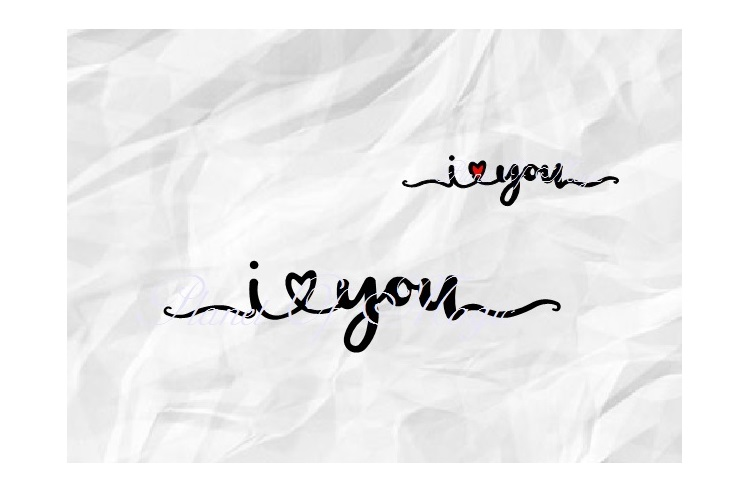 I Love You Svg, Valentine Day Svg, Love Svg, I Heart You Svg example image 1