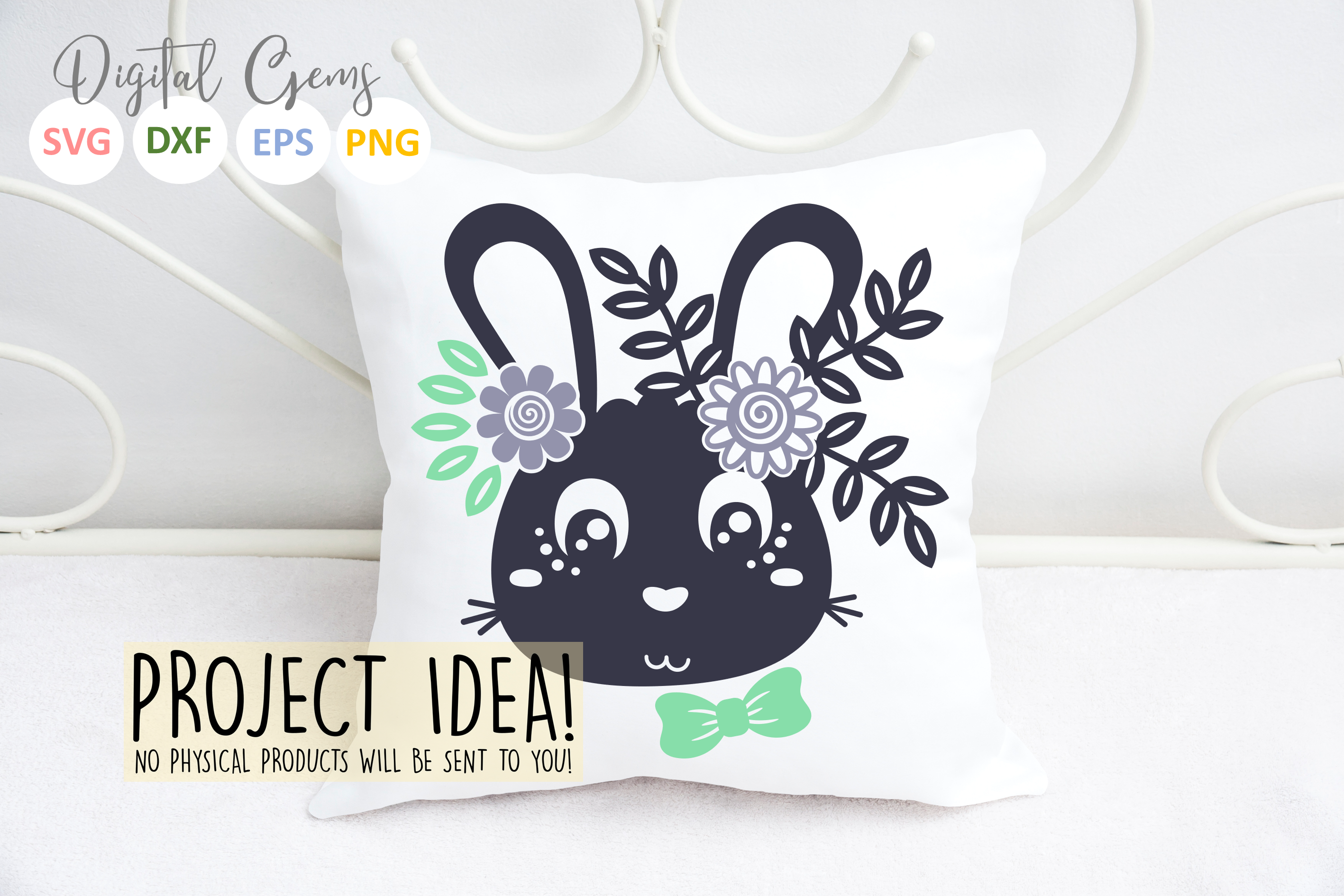 Bunny Rabbit, Easter SVG / DXF / EPS / PNG files example image 2