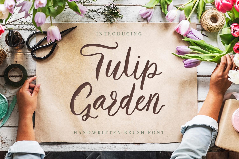 Tulip garden font example image 1
