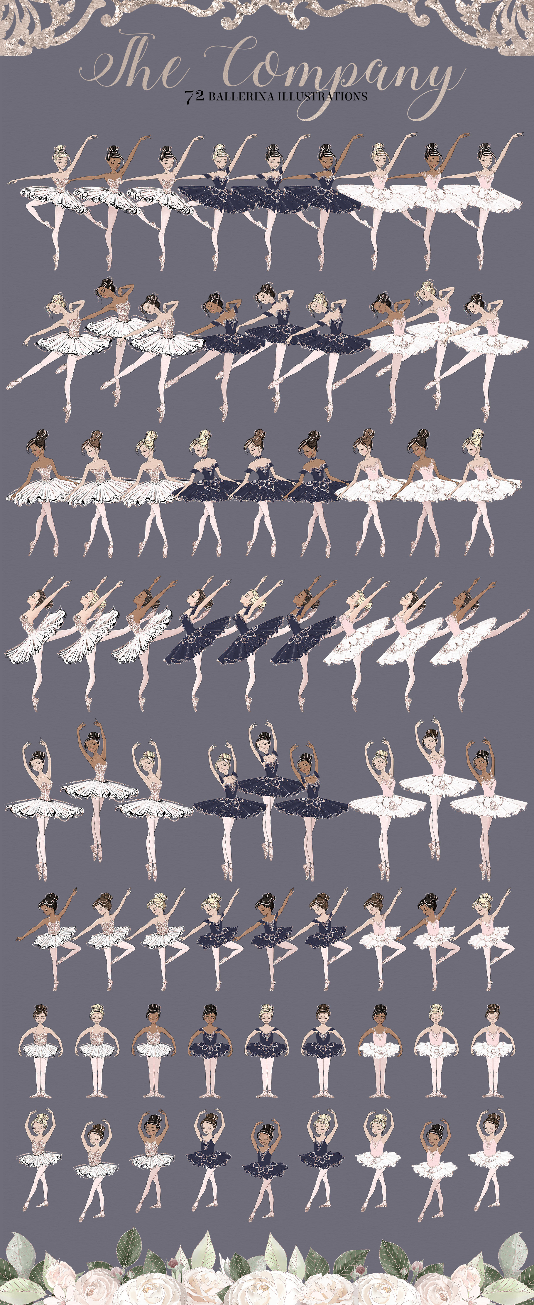 The Grand Ballerina Clipart Collection example image 9
