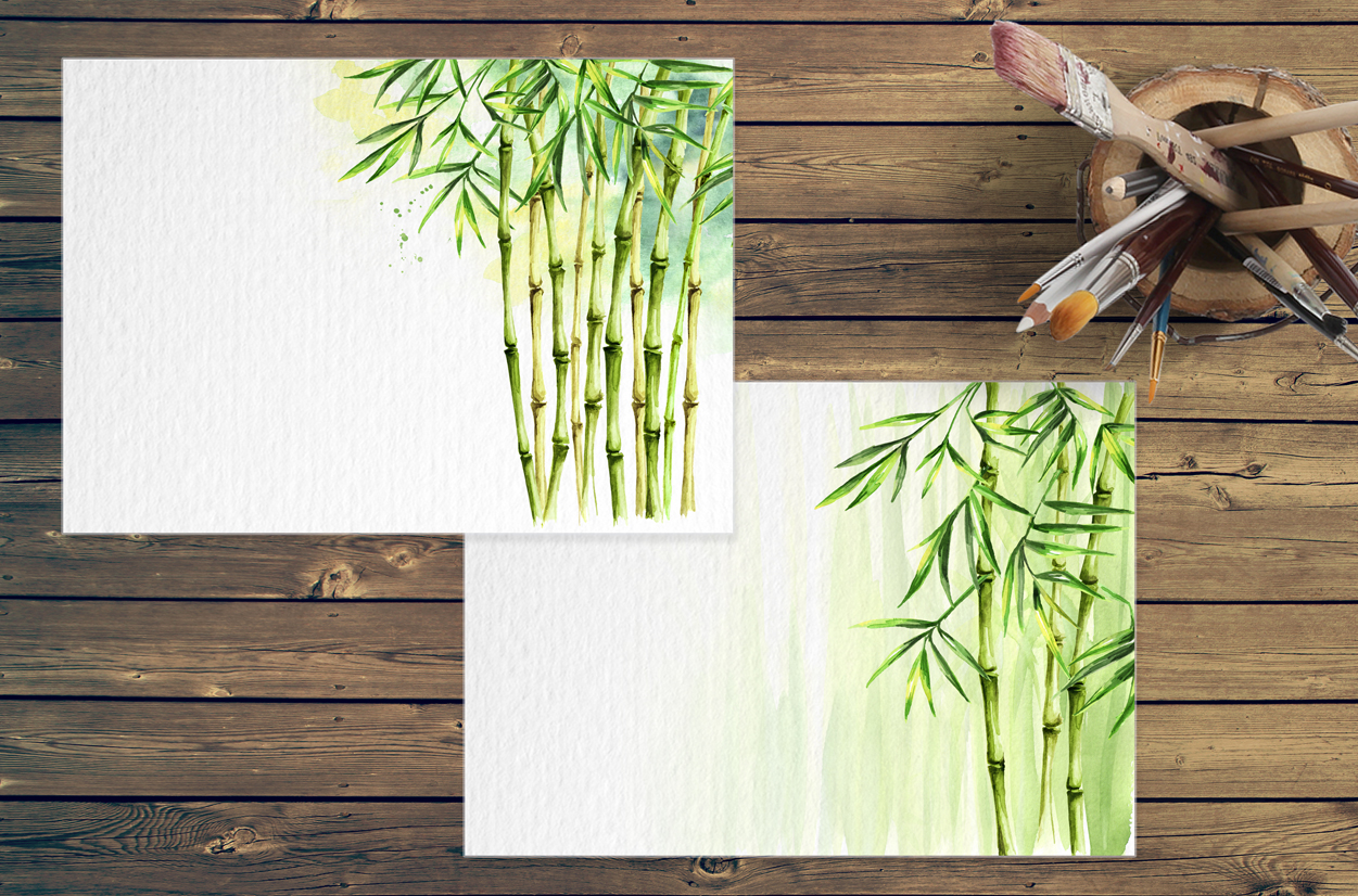 Bamboo. Watercolor collection example image 7