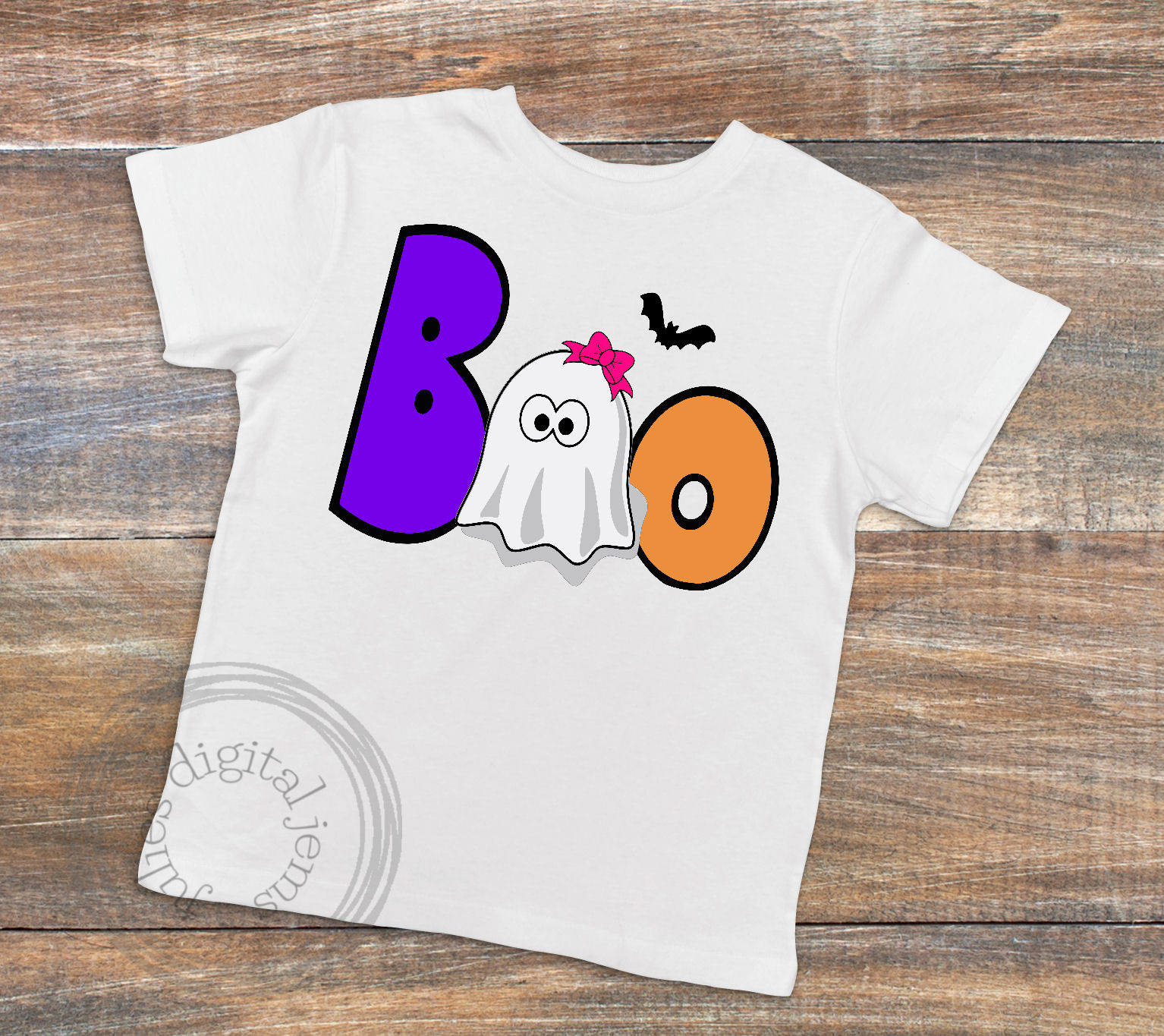 Boo girl ghost SVG, Halloween svg, by Julies digital jems example image 2