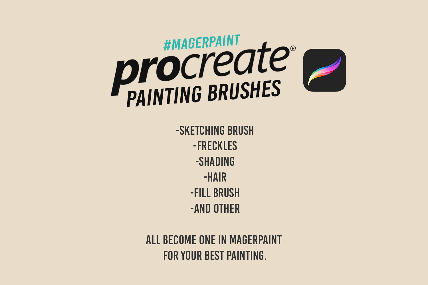 MAGERPAINT - Procreate Painting Brushes example image 3
