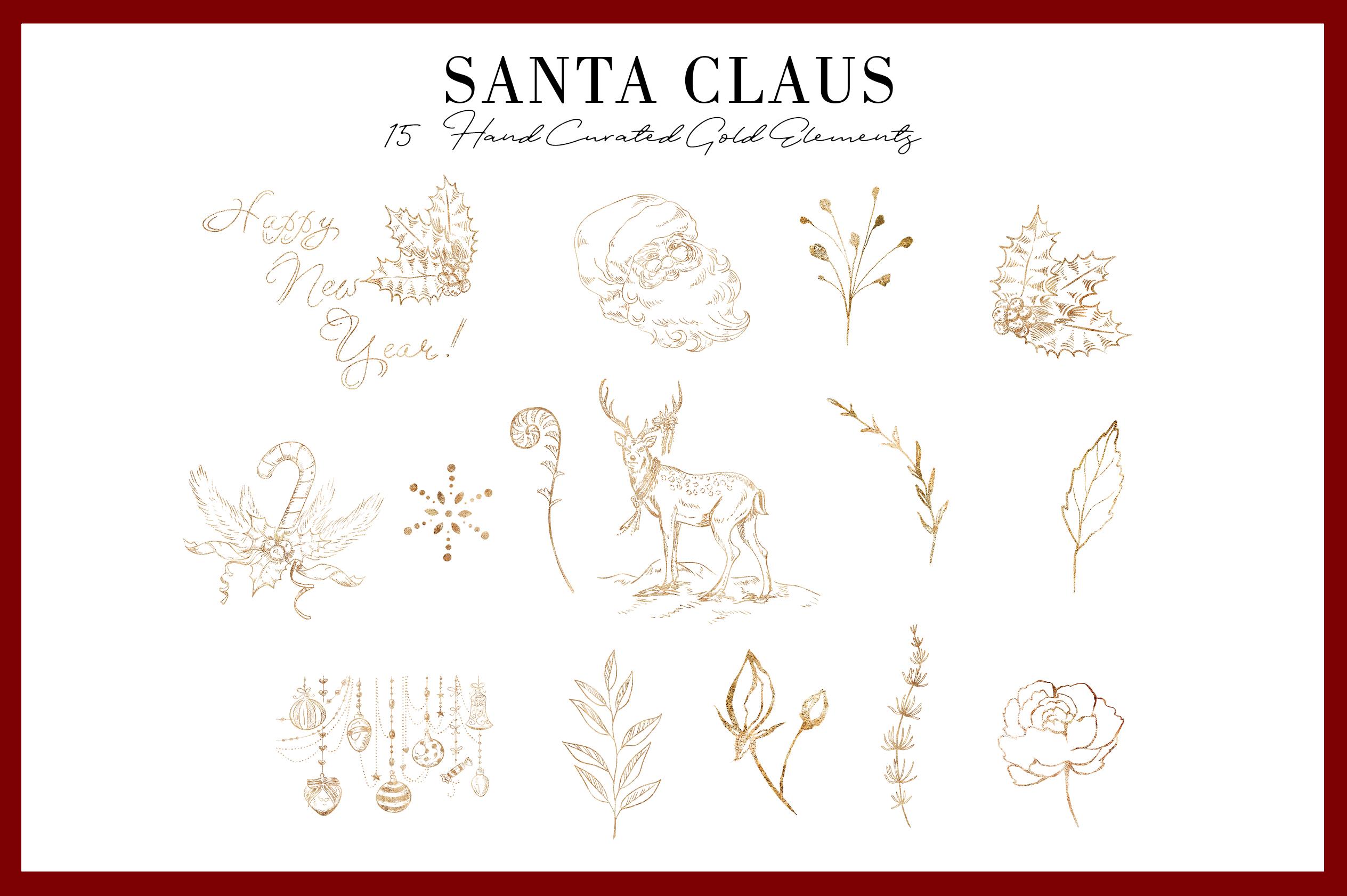 Santa Claus | 54 Clipart Elements example image 7