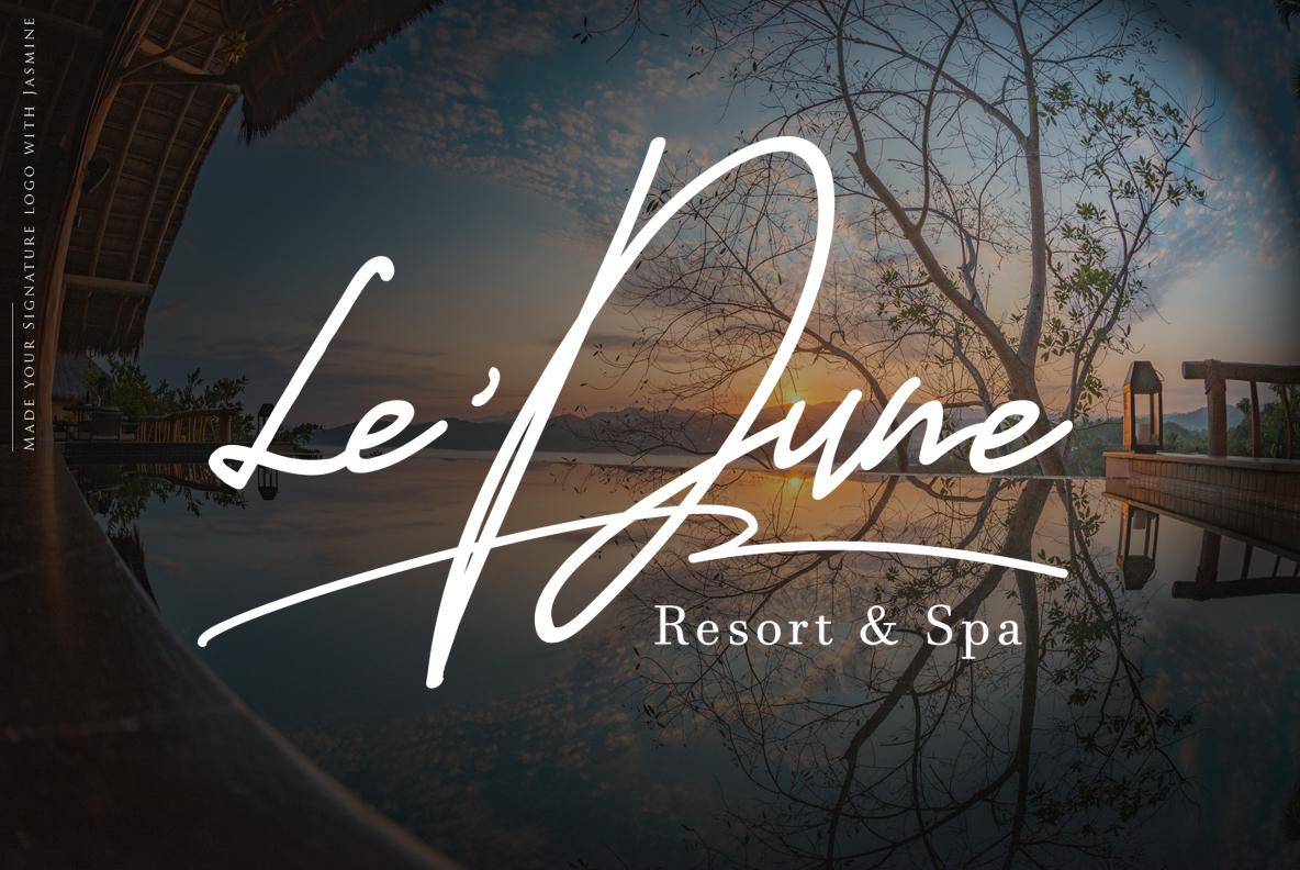 Jasmine Luxury Handwriting example image 4