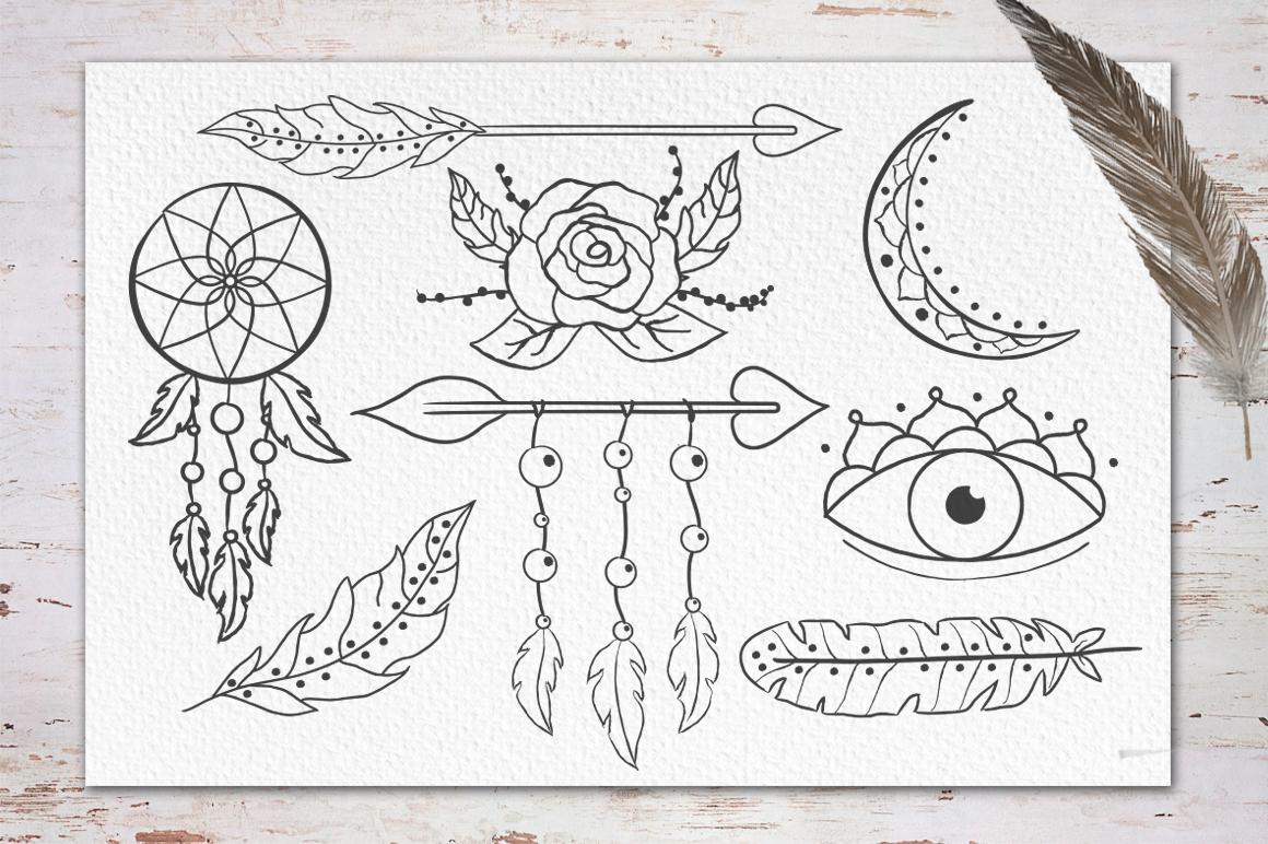Gypsy Soul.Textured Brush Font+bonus example image 12