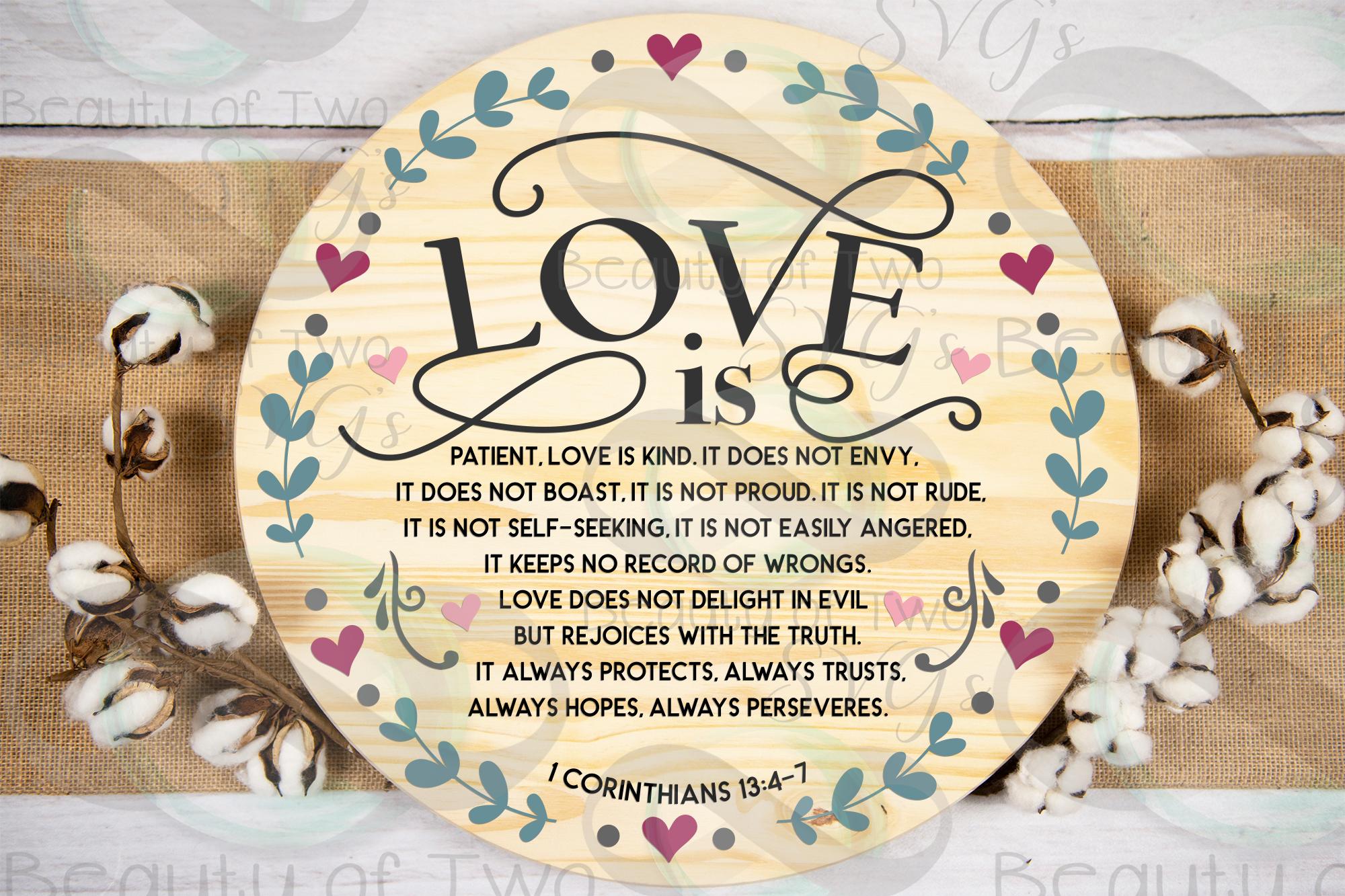 Farmhouse Christian Valentines svg, Corinthians 13 svg, love example image 1