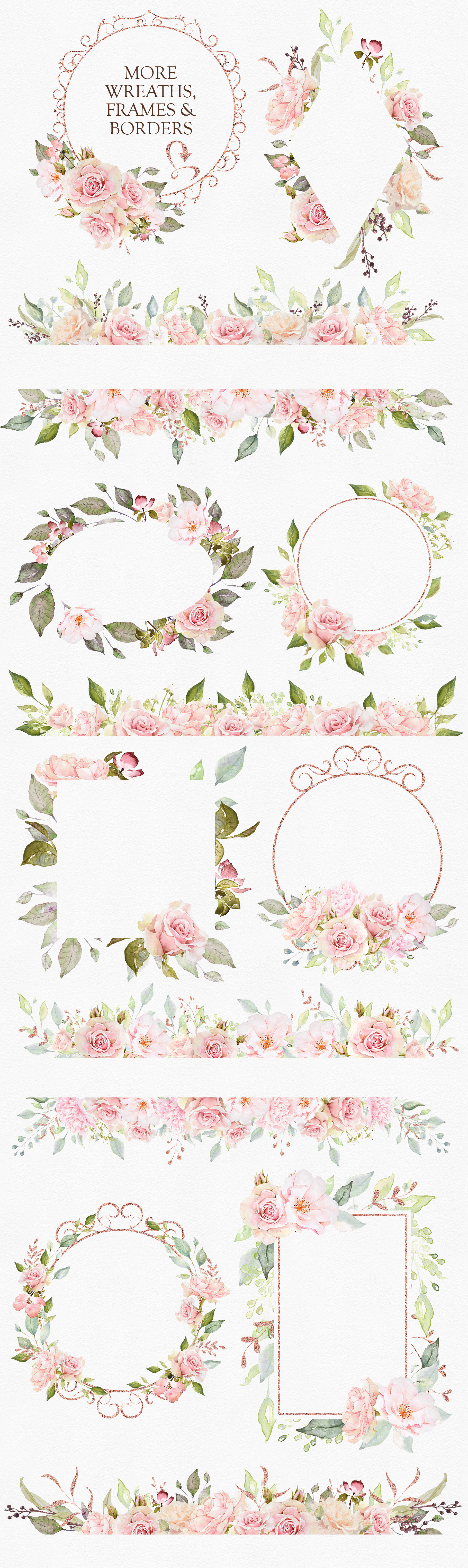 Pretty in Pink Watercolor Collection example image 7