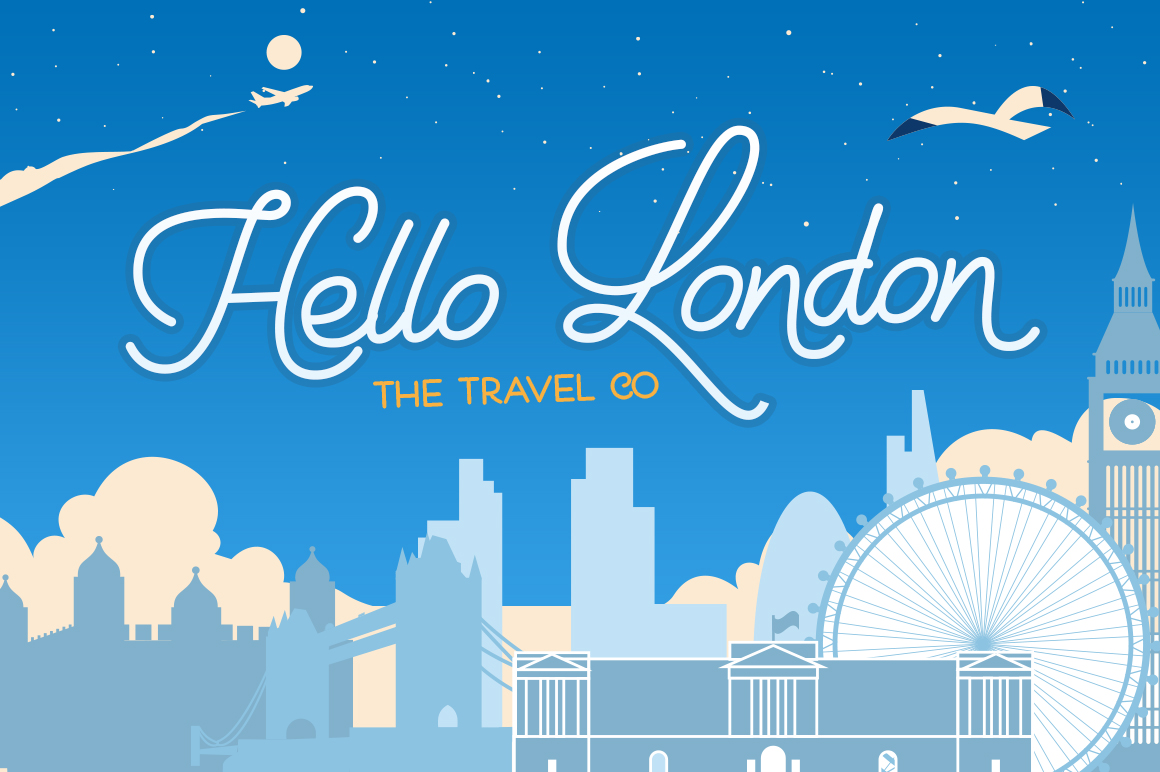 Holiday Travel Font Duo example image 5