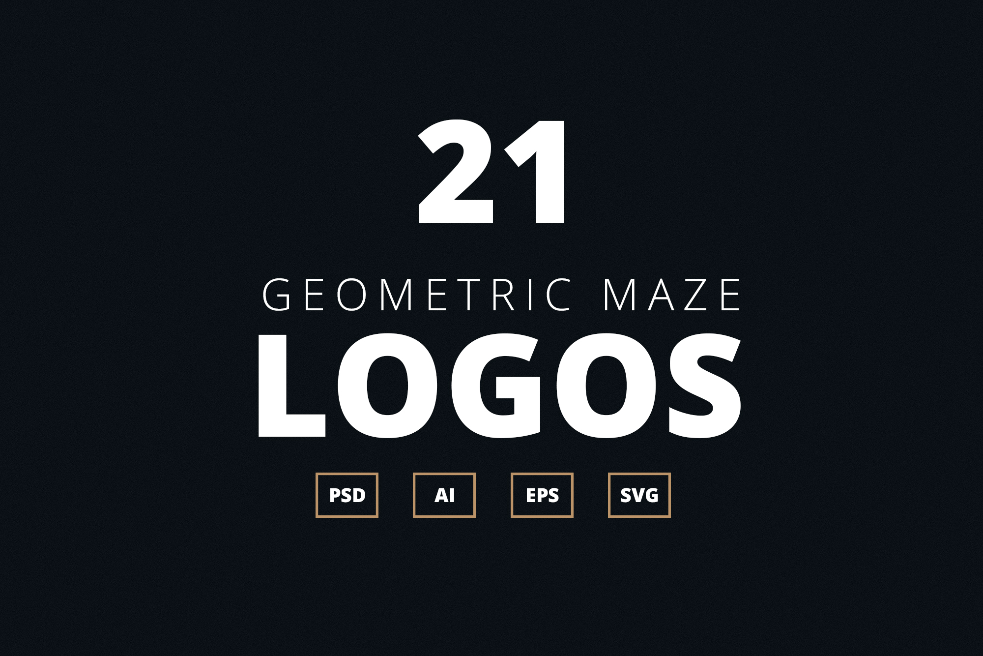 Geometric Maze Logos + Templates example image 6