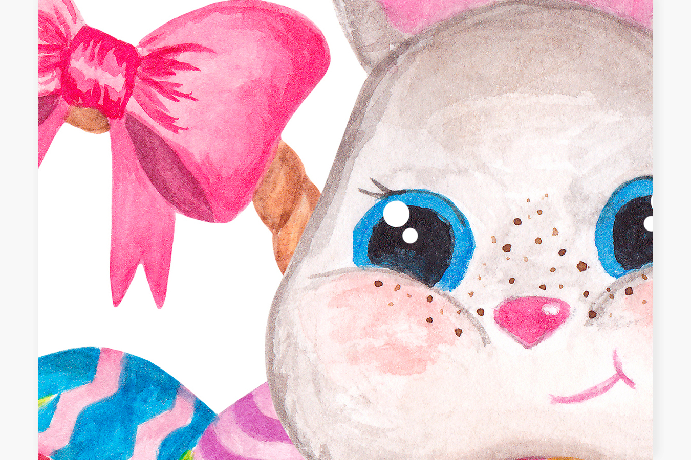Easter clipart Watercolor Easter bunny and Chick graphics example image 4