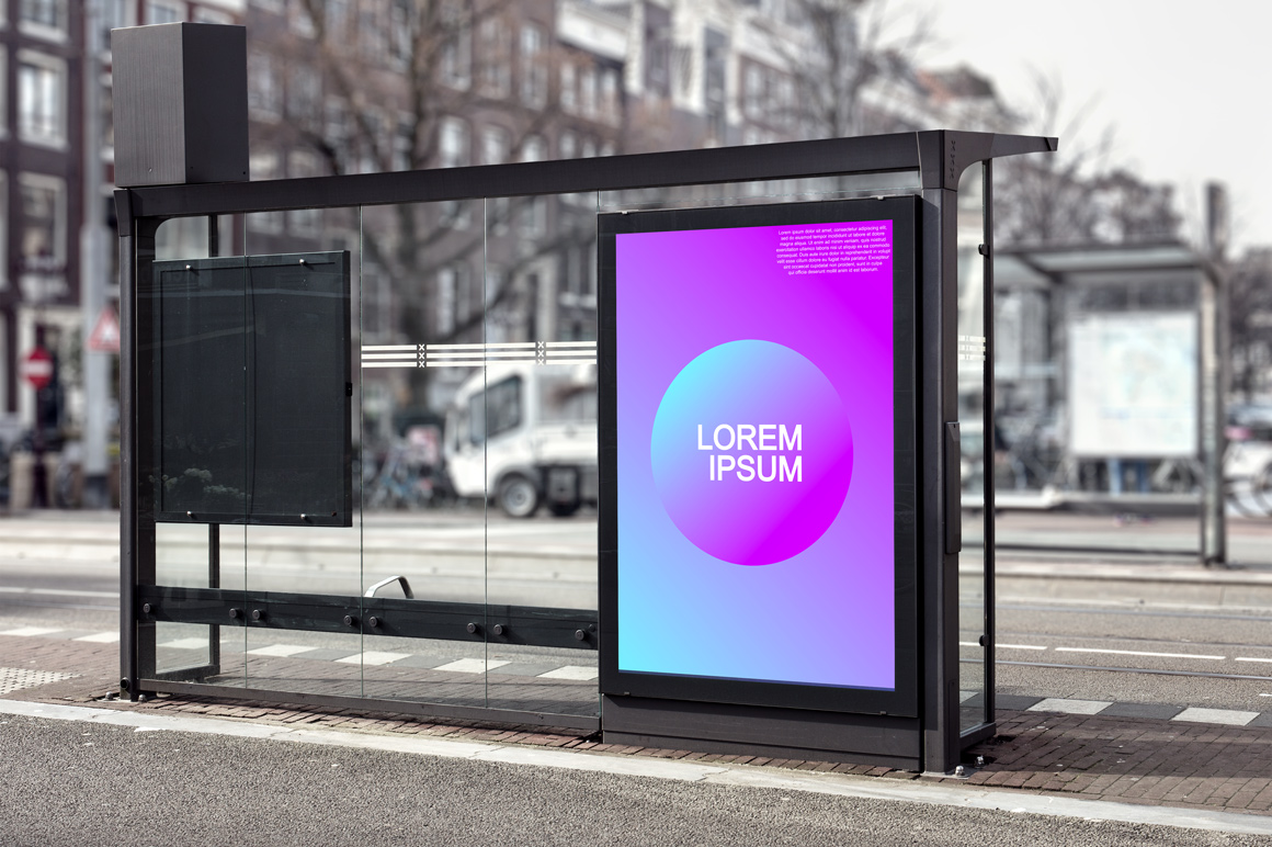 Colorful gradient trendy posters example image 2