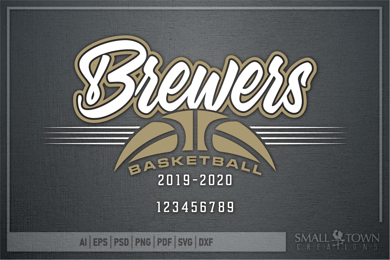 Brewer, Basketball, Sport, Team, Logo, PRINT, CUT, DESIGN example image 5