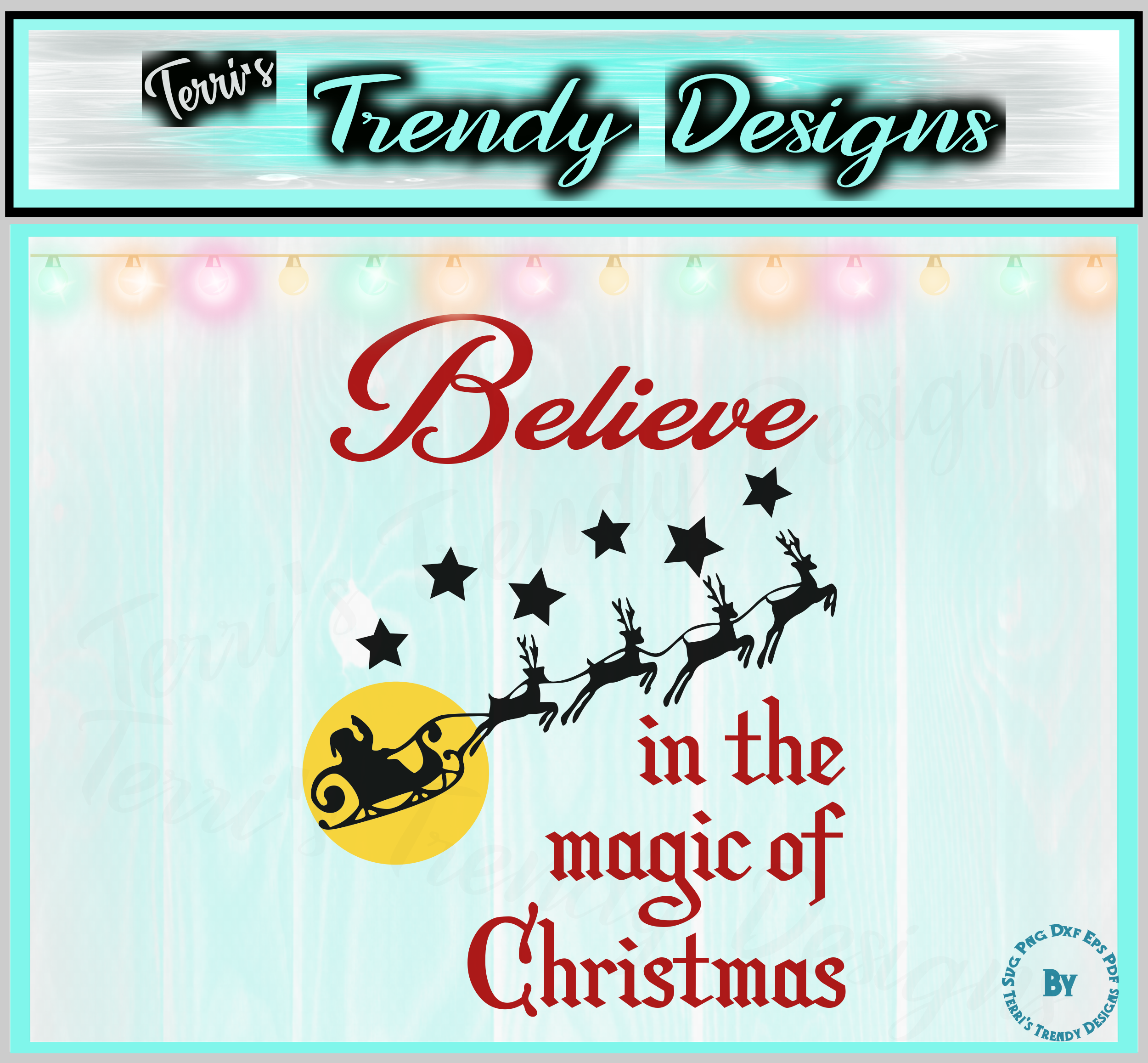 Believe in the magic of Christmas Santa and reindeer quote example image 2