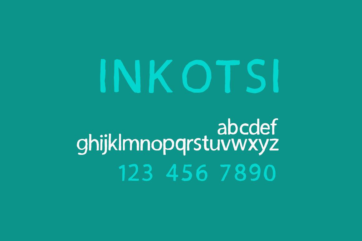 Inkotsi - Rough Sans Serif example image 8