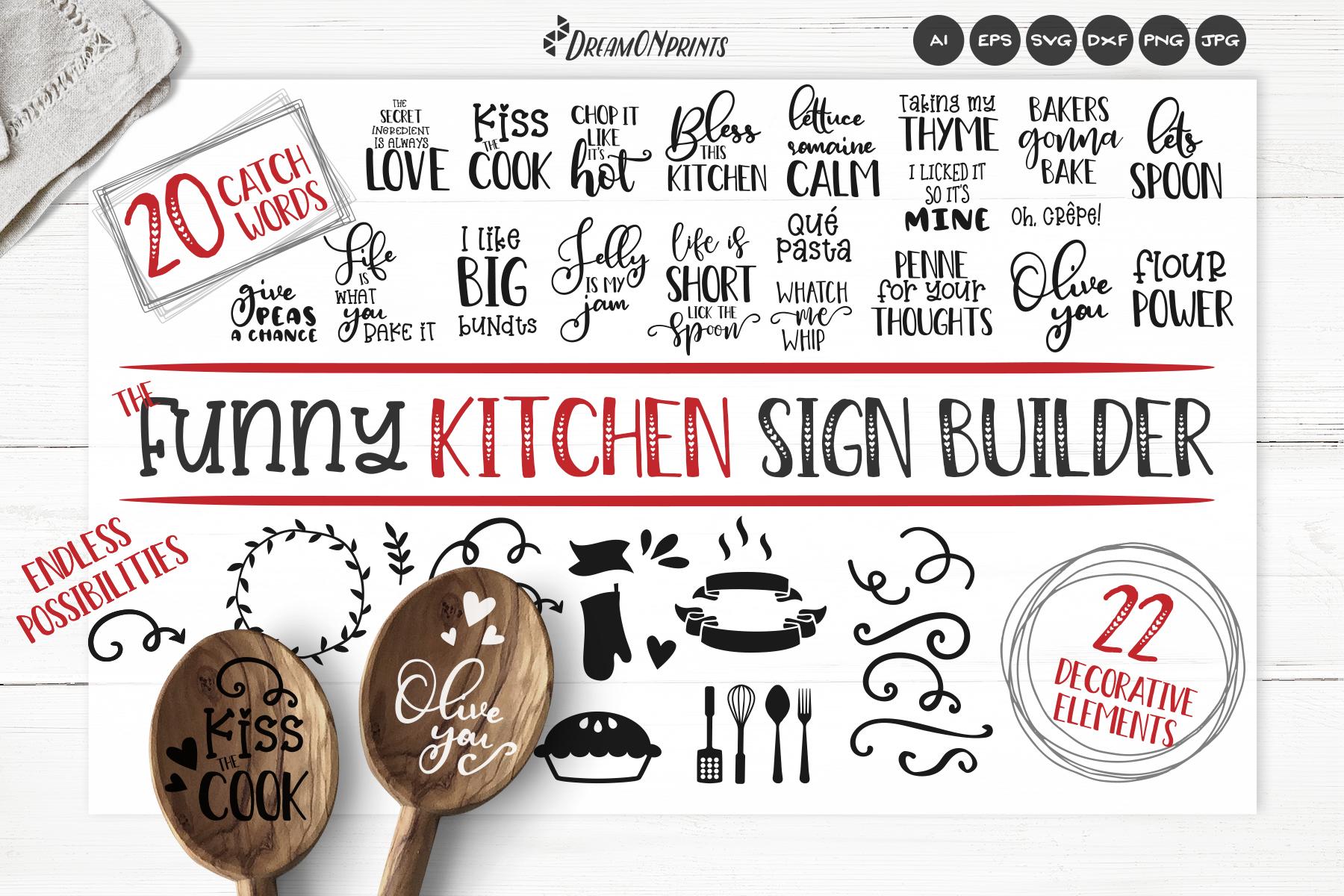 Kitchen SVG Bundle | Funny Kitchen Sign Builder example image 1