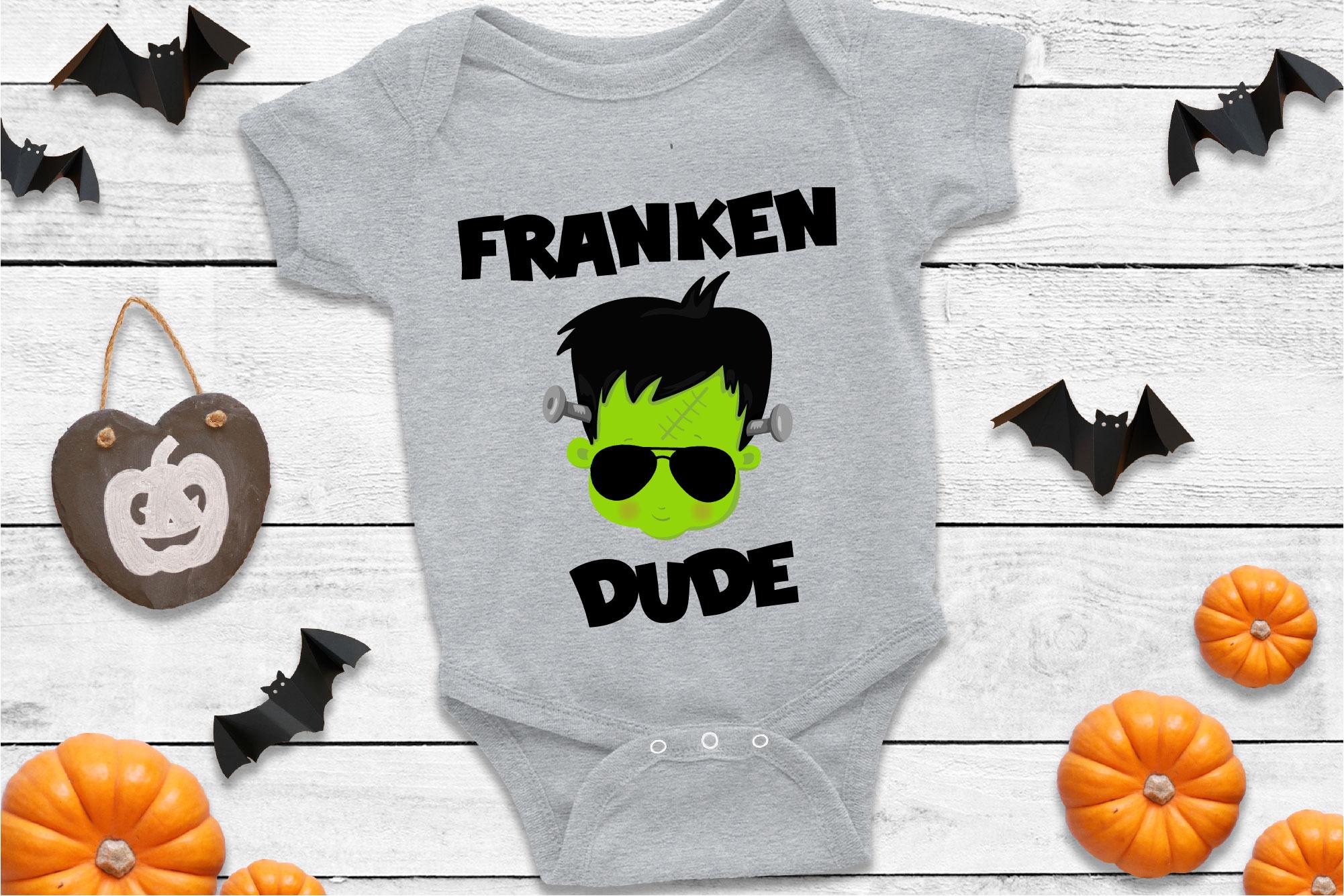 Franken Dude SVG Frankenstein Sublimation, Halloween Monster example image 1