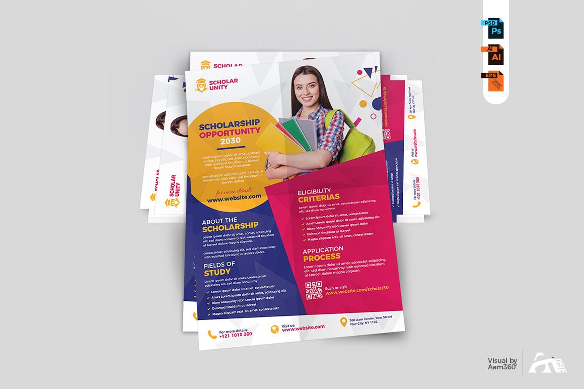 Scholarship Program Flyer Template example image 5